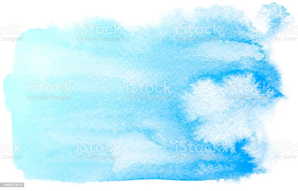 Fundo aquarela abstrato azul. foto royalty-free