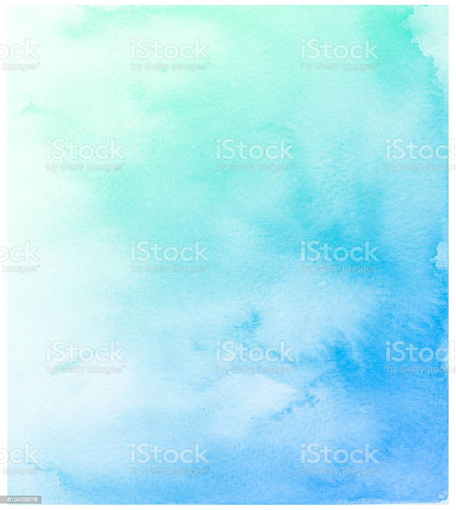 Abstrait Bleu Fond aquarelle. photo libre de droits