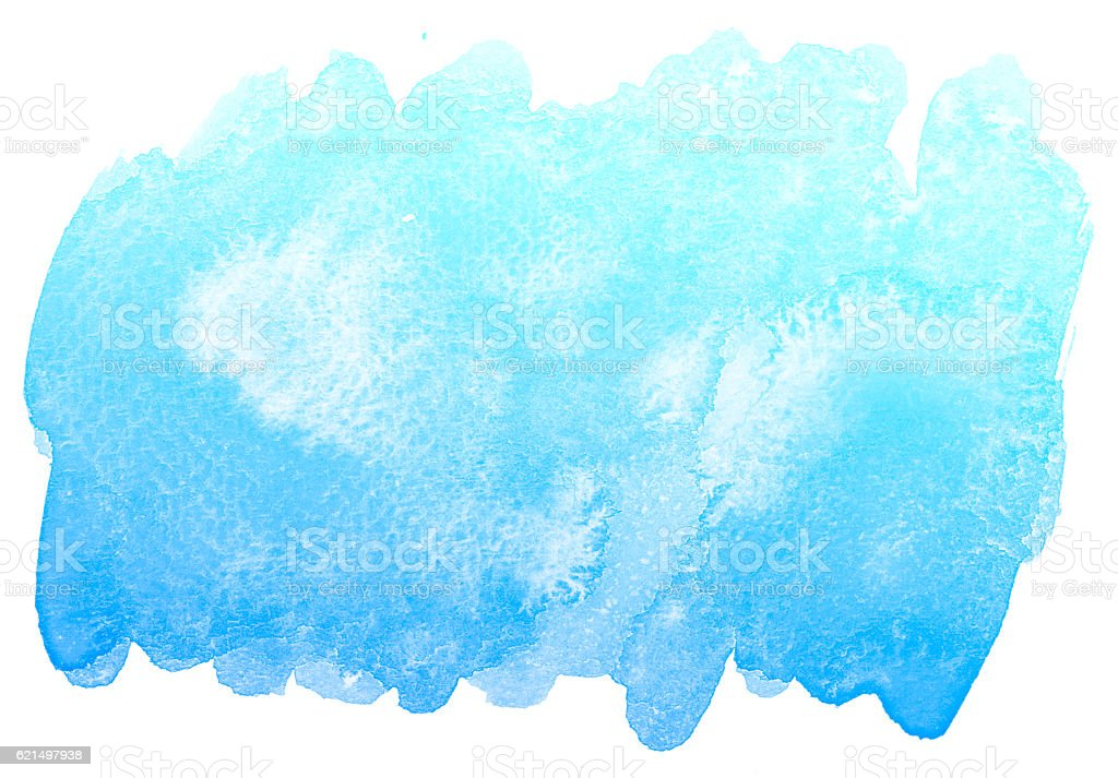 Abstrait Bleu Fond aquarelle. photo libre de droits