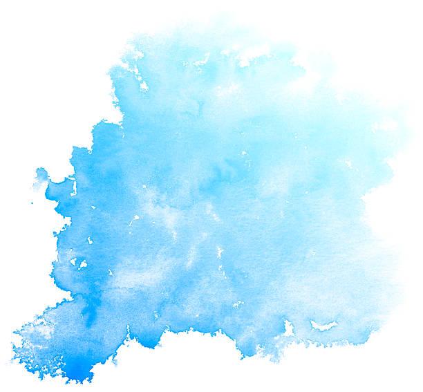 abstrait bleu fond aquarelle. - dessin au pastel photos et images de collection