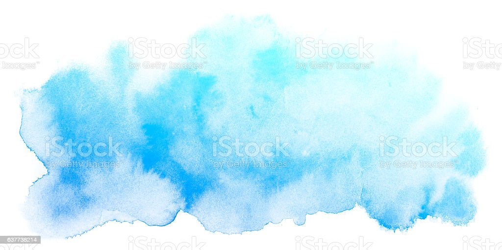 Abstrait Bleu Fond aquarelle. - Photo
