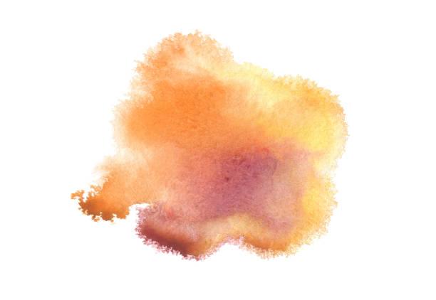 Abstrakte Aquarell blauen Fleck Hintergrund gemalt. Textur-Papier. Isoliert. – Foto