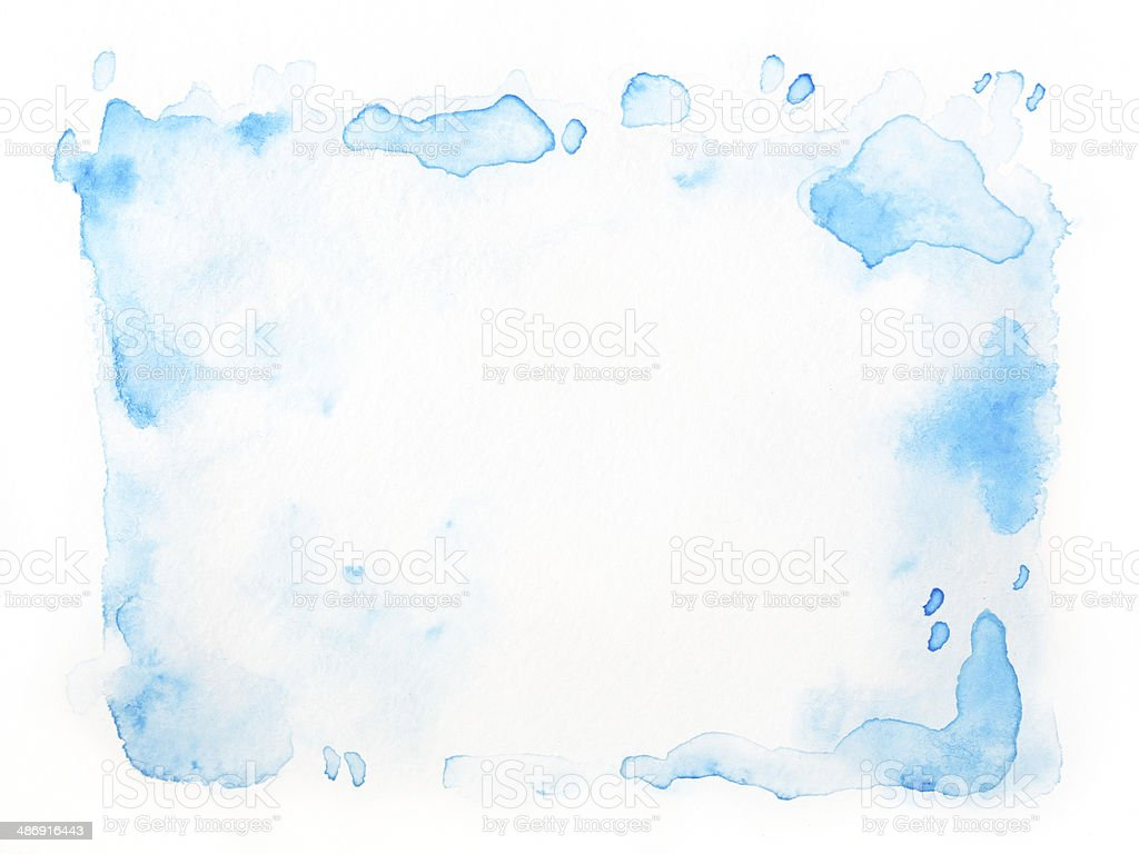 Abstrait aquarelle Bleu isolé - Photo