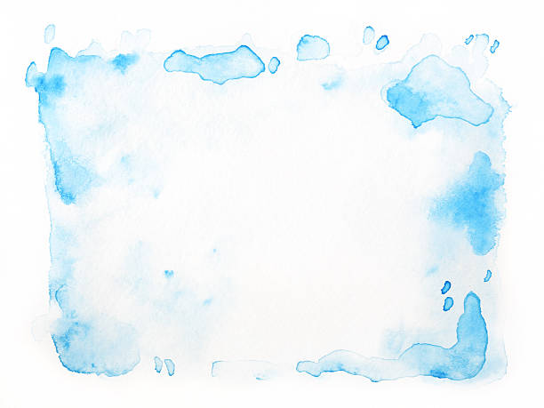 Abstract blue watercolor Isolated stock photo