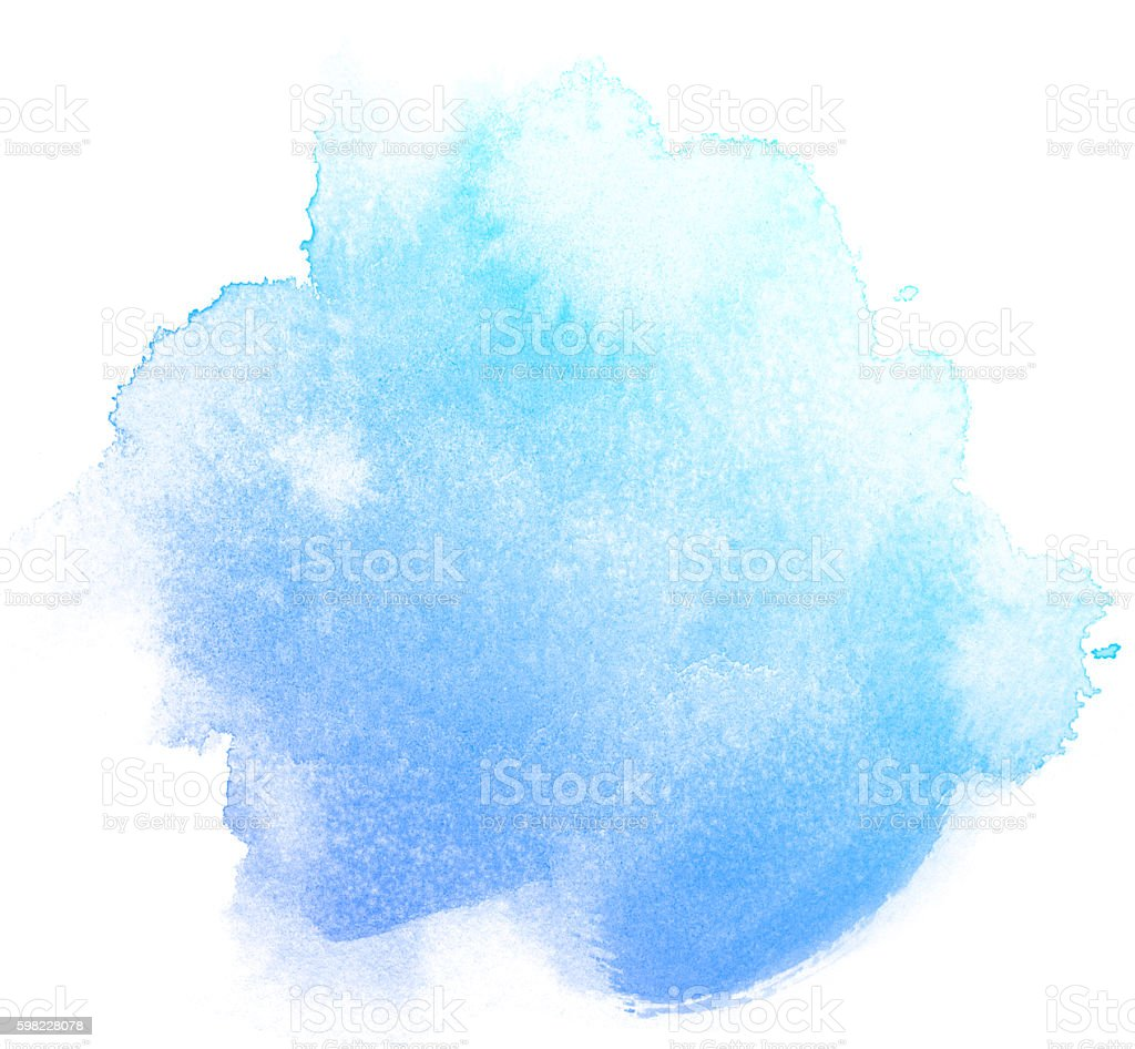 Abstract blue watercolor on white background. foto royalty-free