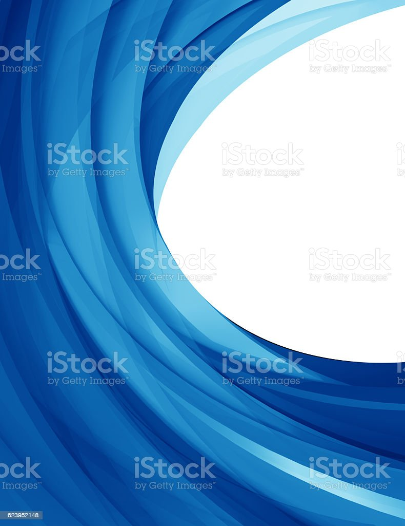 Abstract blue wave pattern background stock photo
