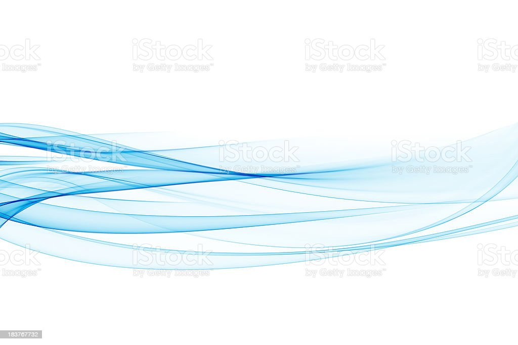 Abstract Blue Waves royalty-free stock photo