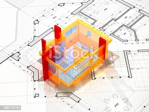 istock Abstract Blueprint 168275752
