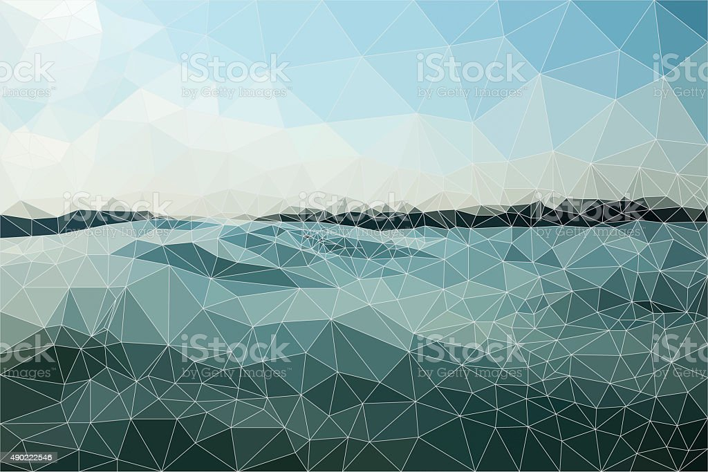 Abstract Bluish Triangle Background stock photo
