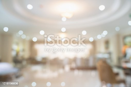 831812130 istock photo abstract blur background image of supermarket in shopping mall 1218196836