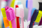 istock Abstract blur background image of toothbrush 1140370114