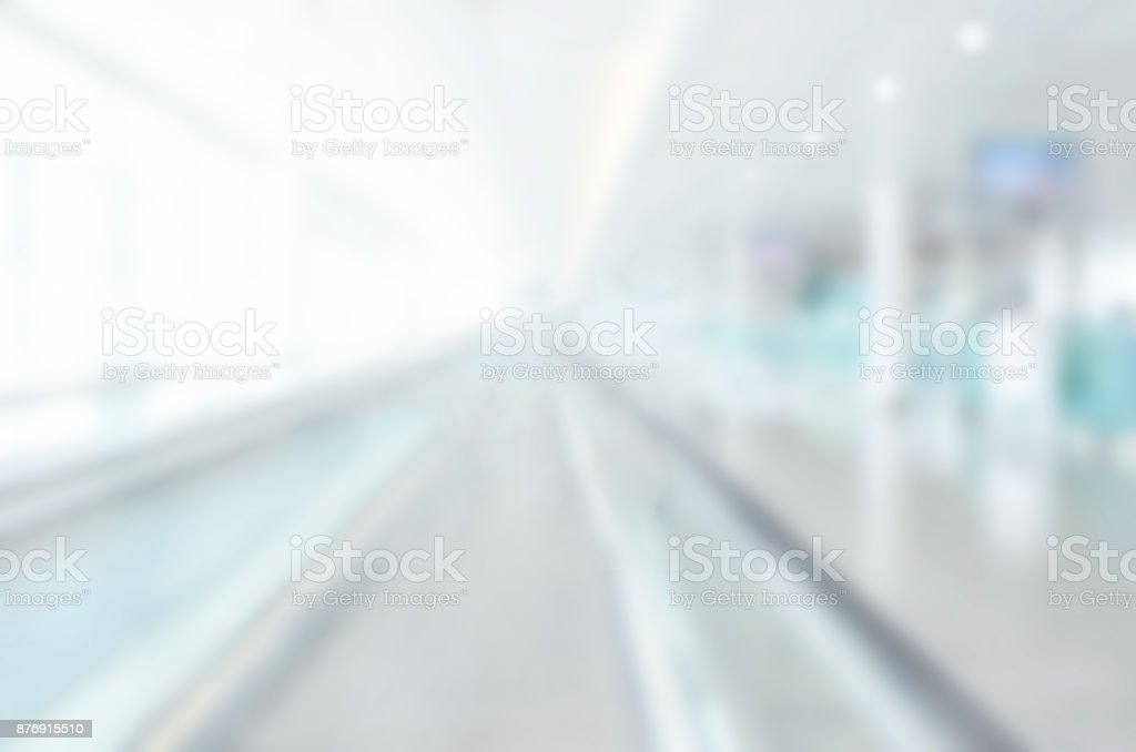 abstract blur background, modern building interior stock photo
