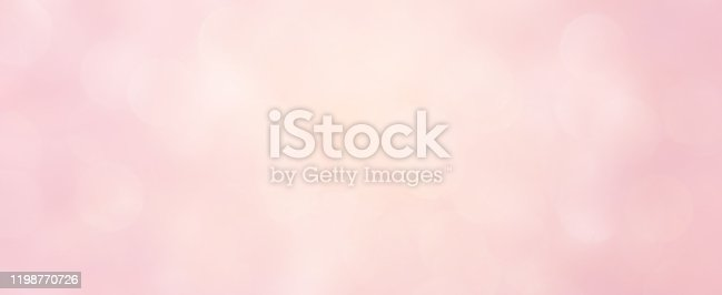 istock abstract blur beautiful elegance bright pale pastel pink color panoramic background with circle bokeh light and shinning for valentine's day collection design as banner concept 1198770726