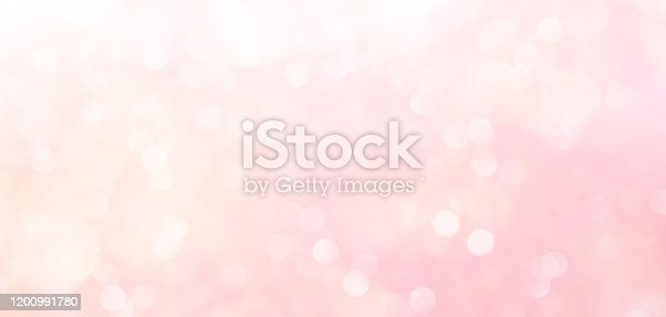 istock abstract blur beautiful elegance bright pale pastel pink color panoramic background with circle bokeh light and shinning for valentine's day collection design as banner concept 1200991780