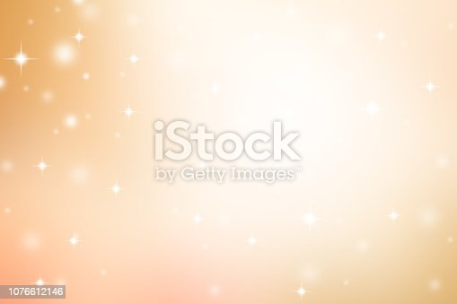istock abstract blur beautiful gold and bronze  gradient color tone background with snow fall and blinking star shape for merry christmas  and happy new year celebrate concept 1076612146