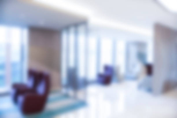 Abstract blur beautiful luxury hospital and clinic interior for background stock photo