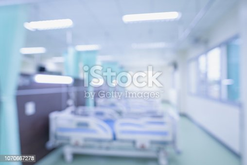 istock Abstract blur beautiful luxury hospital interior for backgrounds 1070667278
