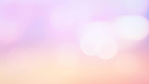 abstrakt oskärpa vackra pastellfärger färg gradient solnedgång himmel bakgrund med bokeh dubbel exponering för design koncept - pink sunrise bildbanksfoton och bilder