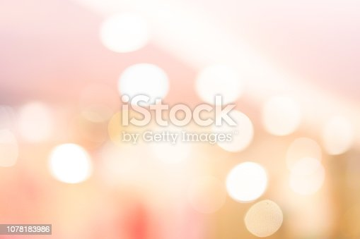 istock abstract blur beautiful pink and gold color background with bokeh light party for merry christmas, happy new year celebrate and valentines day concept 1078183986