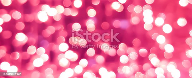 892646638 istock photo abstract blur beautiful pink color and gold bokeh light party as panoramic background for merry christmas, happy new year celebrate and valentines day 14 february concept 1093849202