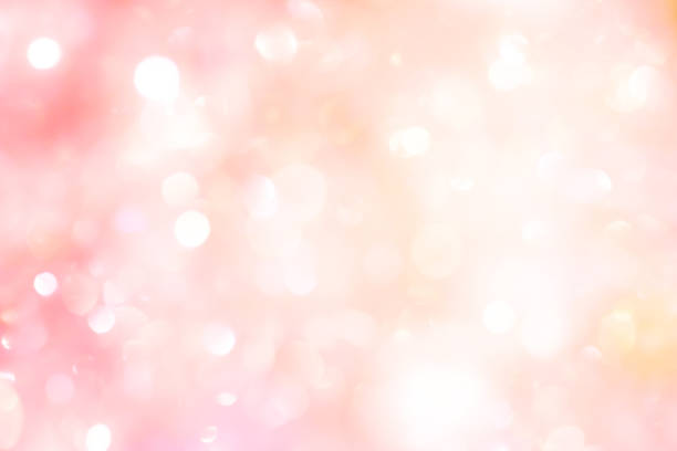 abstract blur beautiful pink color background with bokeh light party for merry christmas, happy new year celebrate and valentines day concept - różowy zdjęcia i obrazy z banku zdjęć