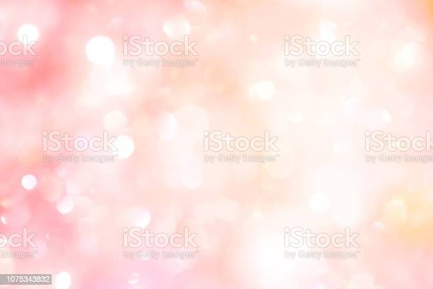 Abstract Blur Beautiful Pink Color Background With Bokeh Light Party For Merry Christmas Happy New Year Celebrate And Valentines Day Concept - Fotografie stock e altre immagini di Accendere (col fuoco)