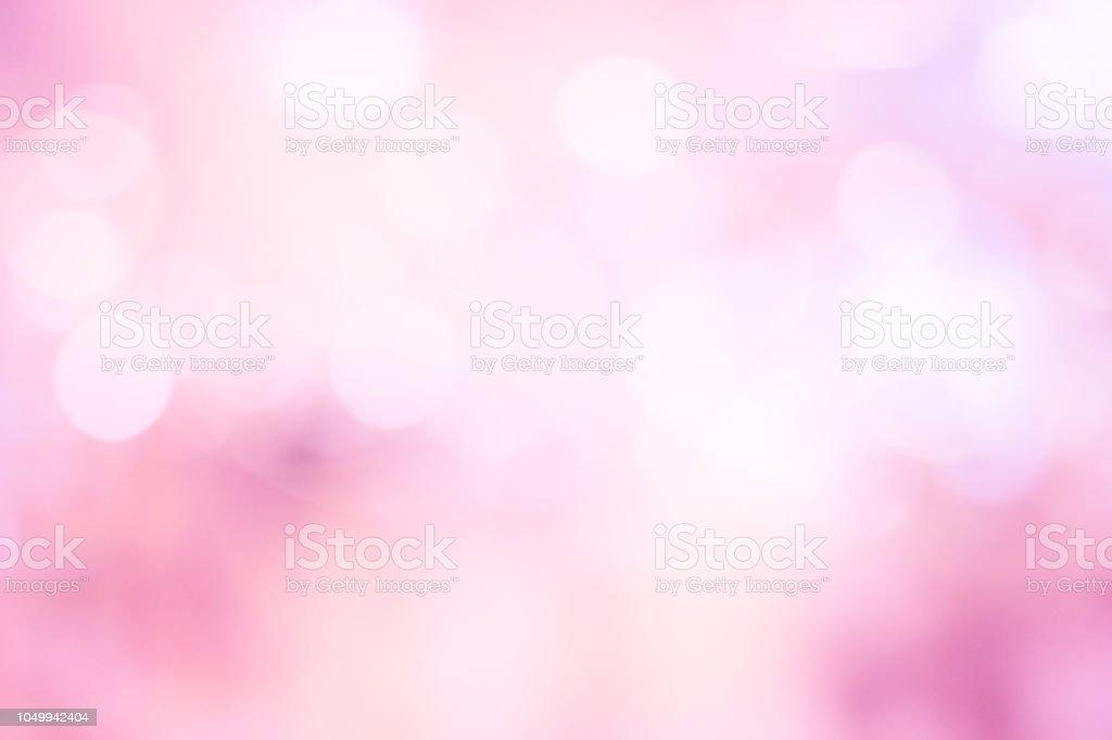 Resumo desfocar o fundo de tom pastel lindo cor de rosa com dupla exposição de bokeh para dia dos namorados, conceito de design de cartão de casamento - foto de acervo