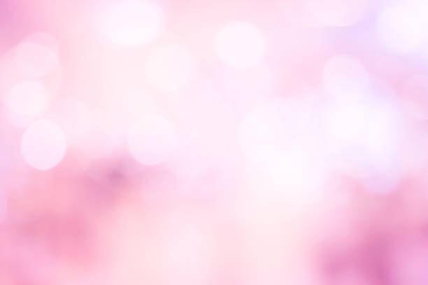 abstract blur beautiful pink color pastel tone background with double exposure of bokeh for valentine's day , marriage card design concept - różowy zdjęcia i obrazy z banku zdjęć