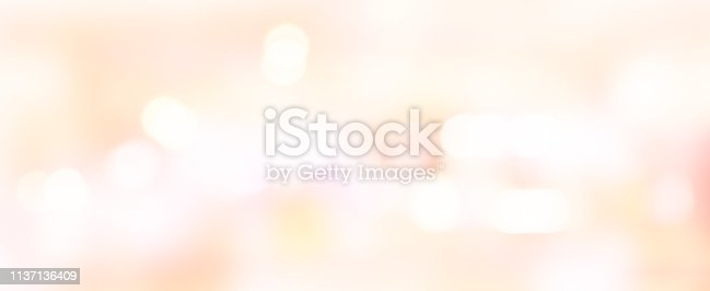 892646638 istock photo abstract blur beautiful pink or rose gold color panoramic background with bokeh light party for merry christmas, happy new year celebrate and valentines day 14 february festive concept 1137136409