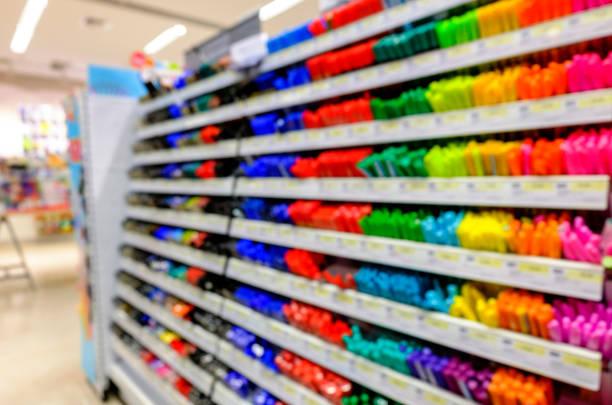 抽象的なぼかし美しい店 - 学校の文房具 ストックフォトと画像