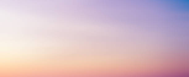 abstract blur beauty skyline scene with pastel multi color background and bright light effect for design as banner, ads and presentation concept - sunset imagens e fotografias de stock