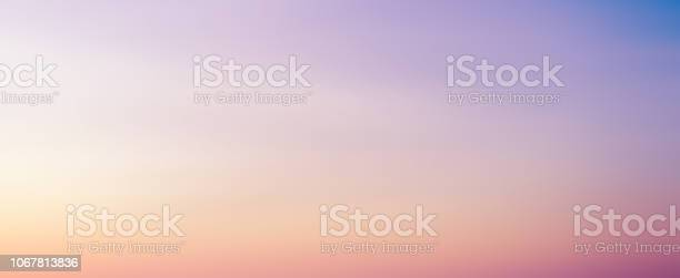 Photo of abstract blur beauty skyline scene with pastel multi color background and bright light effect for design as banner, ads and presentation concept