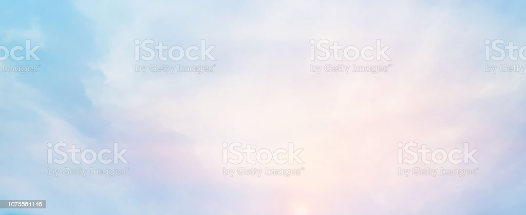 abstract blur beauty sunrise skyline scene with pastel color in...
