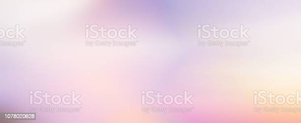 Photo of abstract blur beauty sunset skyline scene with pastel color background design as banner, ads and presentation concept
