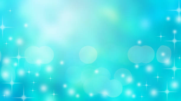 abstract blur blue gradient color of undersea water with sunshine light and star glitter effect for summer season background deign concept - deign stock pictures, royalty-free photos & images
