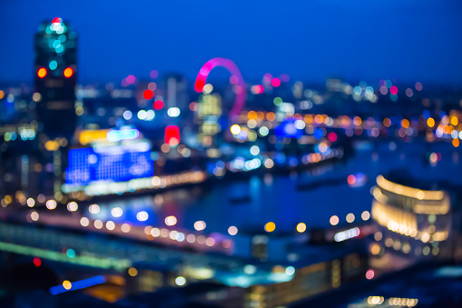 Abstract Blur Bokeh City Of London Night Lights Stock ...