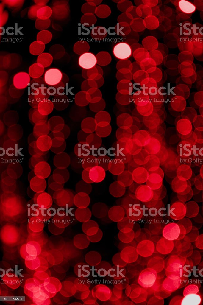 Abstract blur bokeh on black background , red light circle defocused royalty-free stock photo