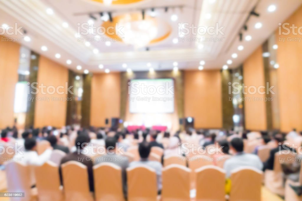 Abstract blur business conference stock photo
