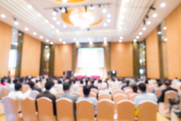 Abstract blur business conference – Foto