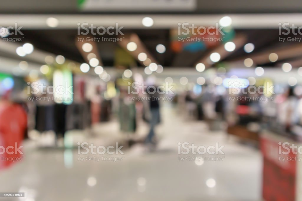 Abstract blur clothing boutique display interior of shopping mall background - Royalty-free Abstract Stock Photo