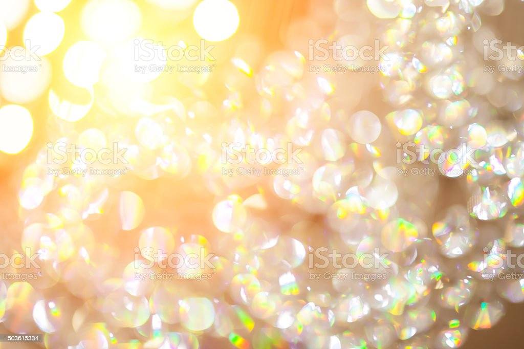 Abstract blur crystal lamp in pastel style for background stock photo