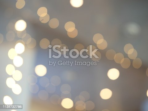 847752786 istock photo Abstract blur exposure of white silver color background with bokeh light 1134732786