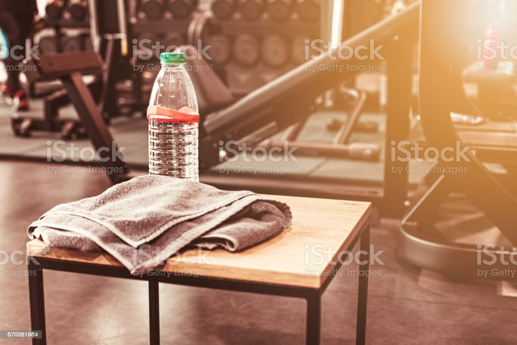 Abstract blur fitness gym background stock photo