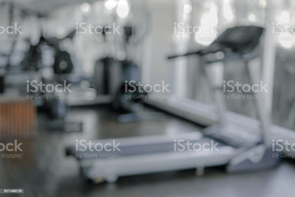 Abstract blur gym and fitness room interior for background photo libre de droits