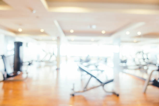 Abstract blur gym and fitness room interior for background – Foto