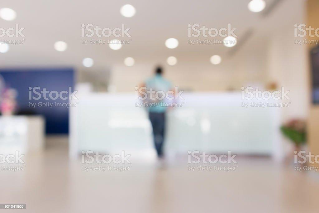 Abstrakt Krankenhaus Klinik Zähler innen defokussierten medizinischen Hintergrund weichzeichnen – Foto