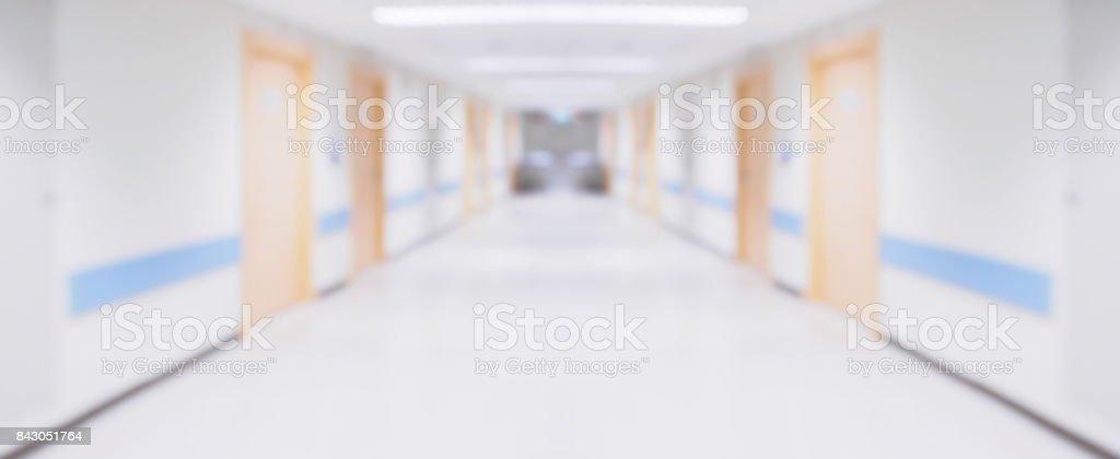 Resumen blur hospital corredor defocused antecedentes médicos - foto de stock