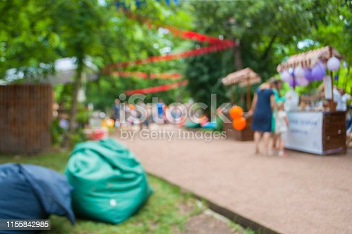 istock Abstract blur image of day festival in garden with bokeh 1155842985