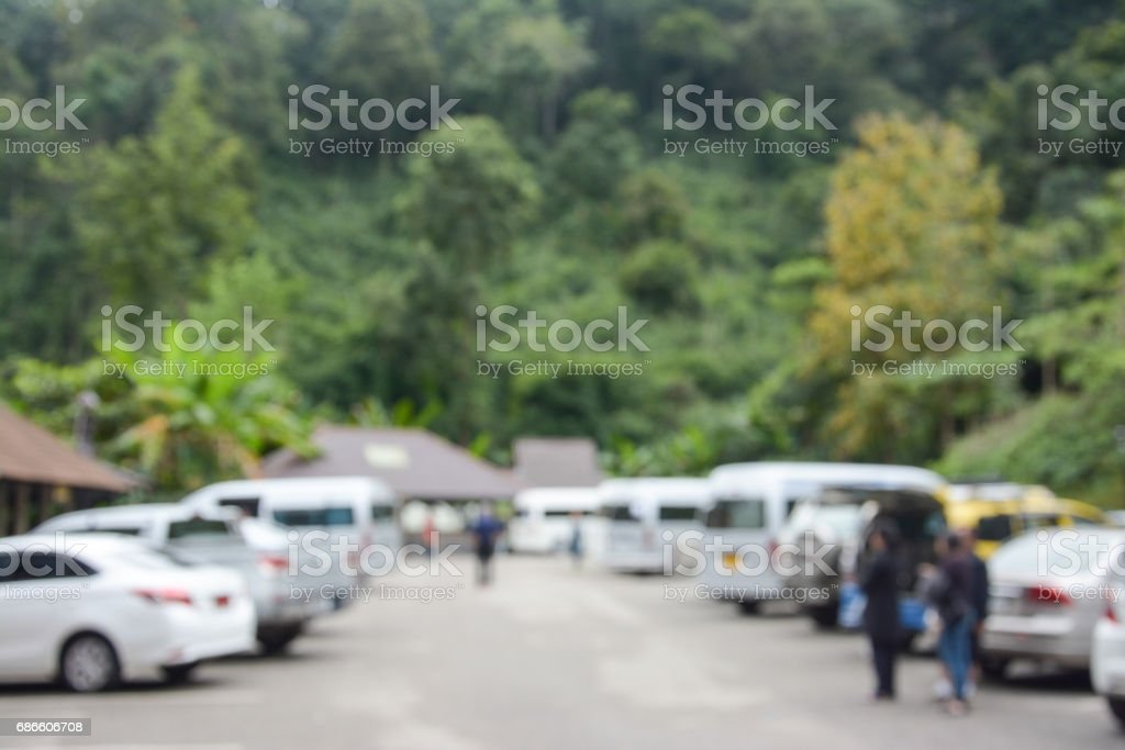 Abstract blur image of outdoor car parking background royalty-free stock photo