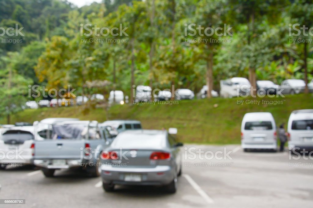 Abstract blur image of outdoor car parking background photo libre de droits